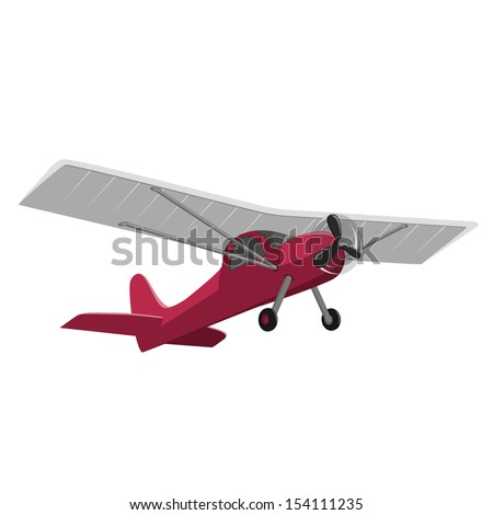 red airplane isolated on white background. - stock vector