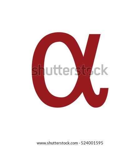 Alpha Letter Vector Icon Greek Alphabet Stock Vector 488629183 ...