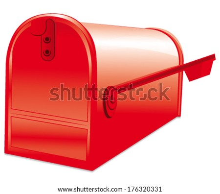 Opened Mailbox Isolated On White Background Stock Illustration