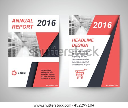 red and black abstract flyer layout template with shopping background vector design in a4 size