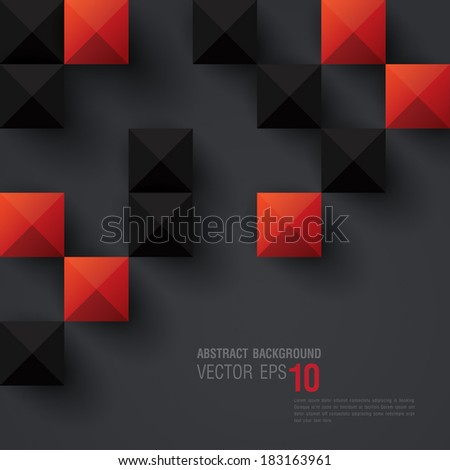 Red and black geometric background.Vector background can be used in cover design, book design, website background, CD cover, advertising.  - stock vector