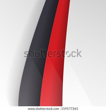 Red and black lines - stock vector