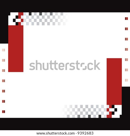 red and black squares and rectangle vector background - stock vector