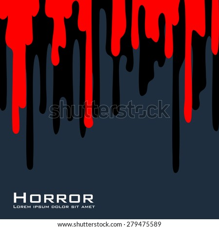 Red and black streaks on a gray background. Space for text. - stock vector