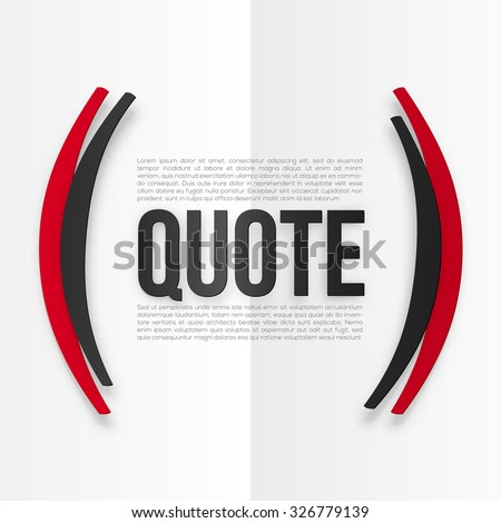 Red and black vector parentheses with place for your text at white folded paper background - stock vector