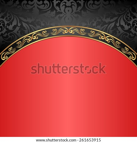 red and black vintage background - stock vector