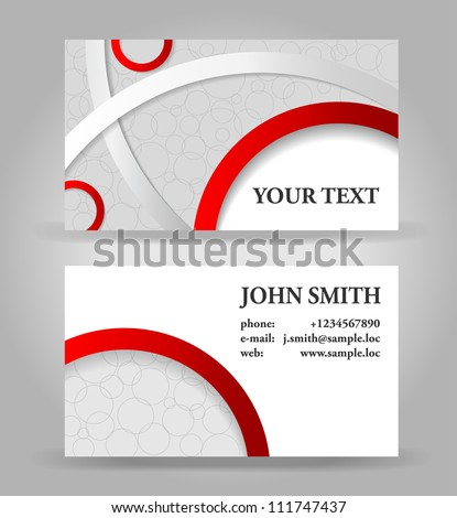 Red and gray modern business card template.