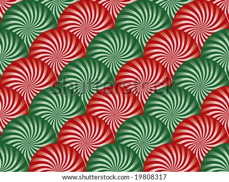 Red and Green Peppermint Background - stock vector