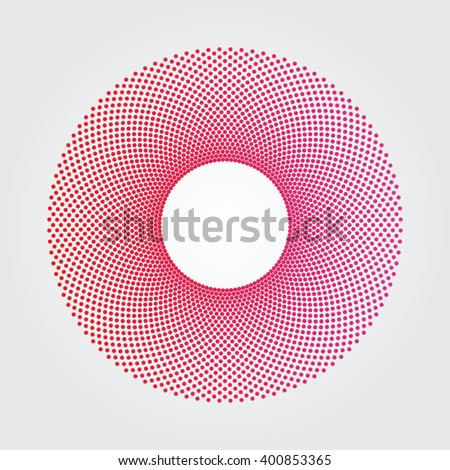 Red and magenta dot donut design
