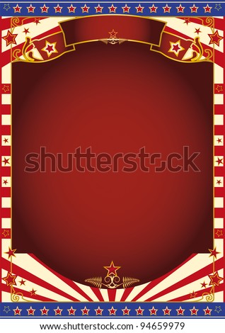 red and white circus background. A background for your advertising - stock vector