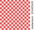 Red and white gingham cloth background with fabric texture, suitable for Mother's Day designs, plus seamless pattern included in swatch palette ( for high res JPEG or TIFF see image 101402638 ) - stock photo