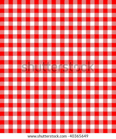 Red and white popular background pattern for picnics - stock vector