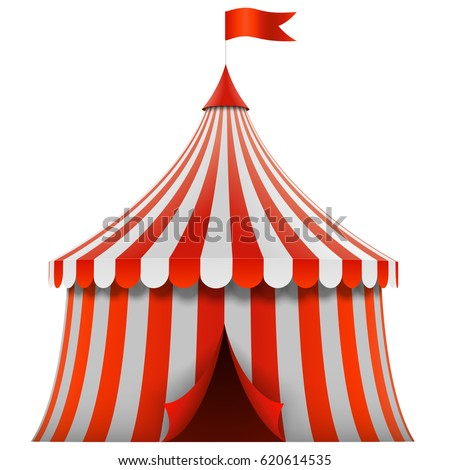Red and white stripes circus tent isolated on white background. Vector illustration.  sc 1 st  Shutterstock & Circus Tent Stock Images Royalty-Free Images u0026 Vectors | Shutterstock