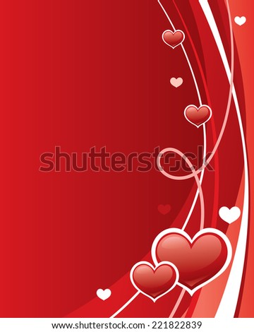 Red and white valentine's day background.