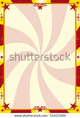 Red and yellow circus poster. A circus background for your advertising - stock vector