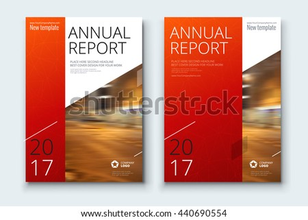 red annual report cover design corporate stock vector royalty free