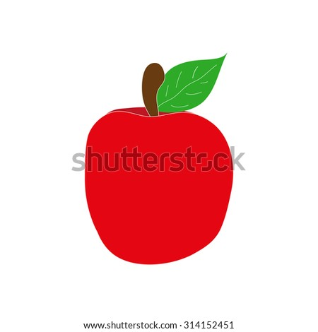 red apple  - stock vector