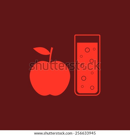 Apple Glasses Concept Red Apple And Glass of Juice