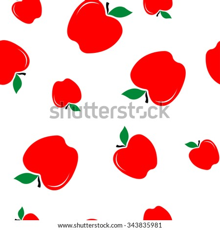 red apple texture - vector illustration - stock vector