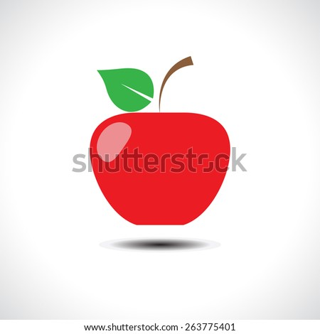 Red apple - vector illustration - stock vector