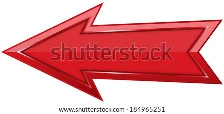 Red arrow icon - stock vector