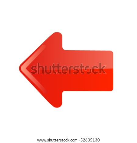 Red arrow icon. Vector - stock vector