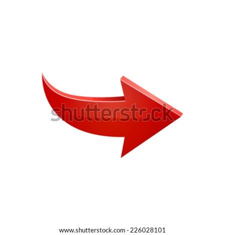 Red arrow. Vector - stock vector