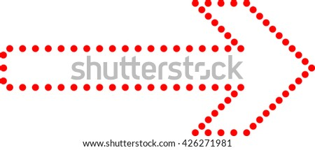 Red Arrow Vector Dots.