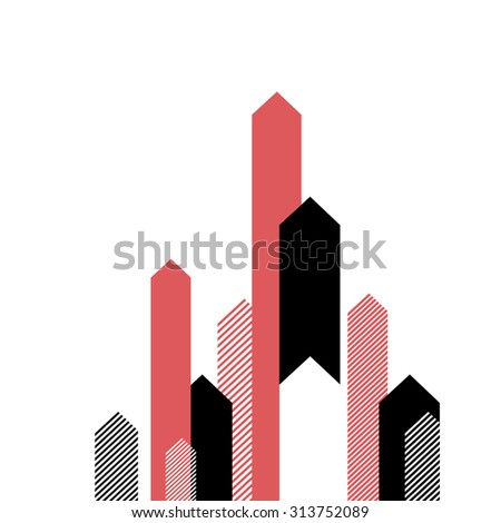 Red Arrows Up. Successful Business Concept Illustration. Simple and Clean Design - stock vector