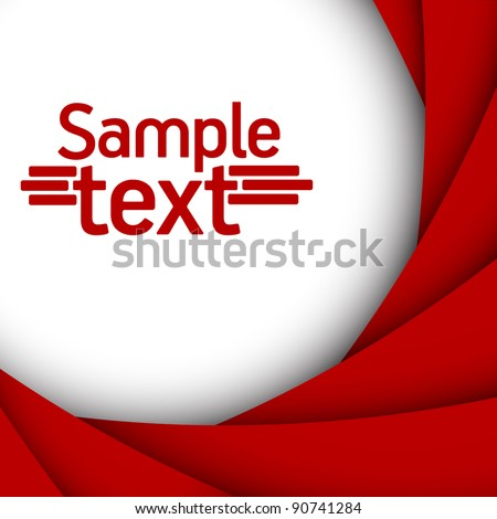 red background - stock vector