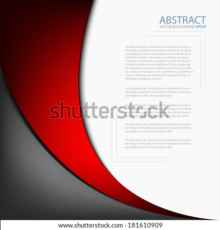 Red background graphic circle curve line for text and message modern web design - stock vector