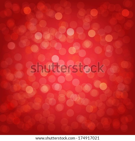 Red Background With Bokeh, With Gradient Mesh, Vector Illustration - stock vector