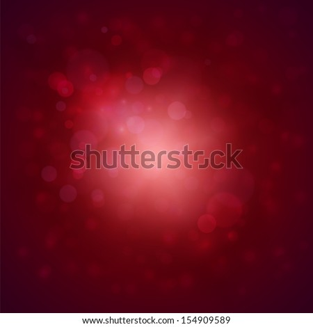 Red background with defocused lights - eps10 - stock vector