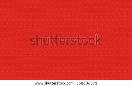 Red background with heart shapes. Vector Valentine background