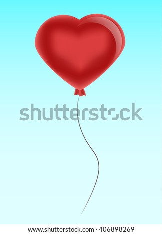 Red balloons, happy birthday, celebration. greeting card, heart, love
