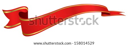 red banner - stock vector