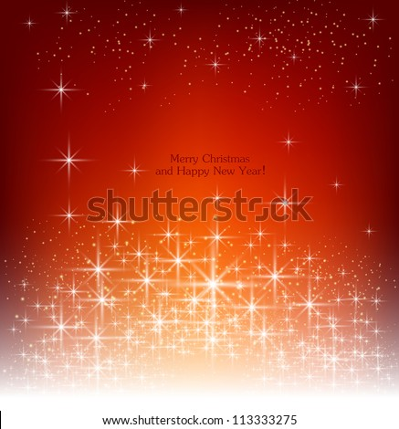 Red beautiful Christmas background. - stock vector