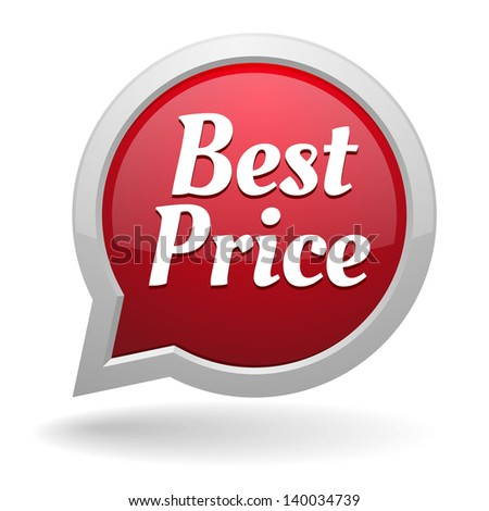 Red best price speech bubble