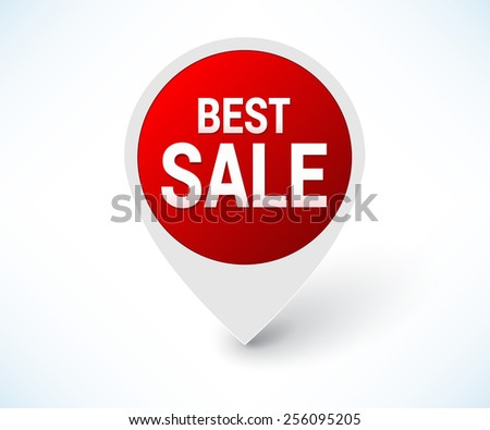 Red best sale pointer  - stock vector