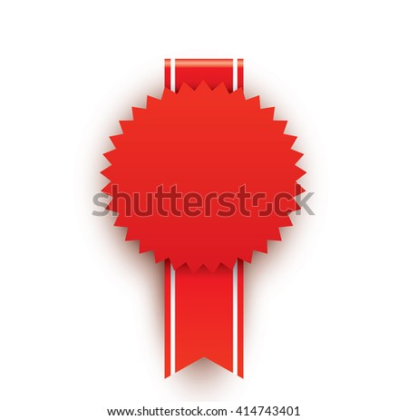 Red blank award - stock vector