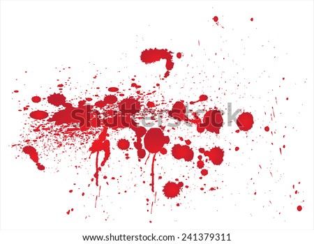 Red  blots.Blood stains vector.