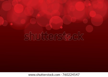 Red Bokeh Christmas Light Vector Soft Glowing And Lights