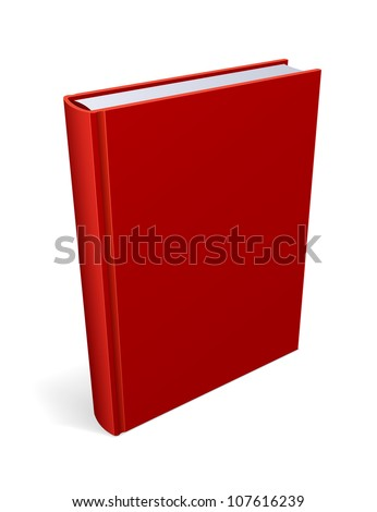 Red  Book Isolated Vector - stock vector