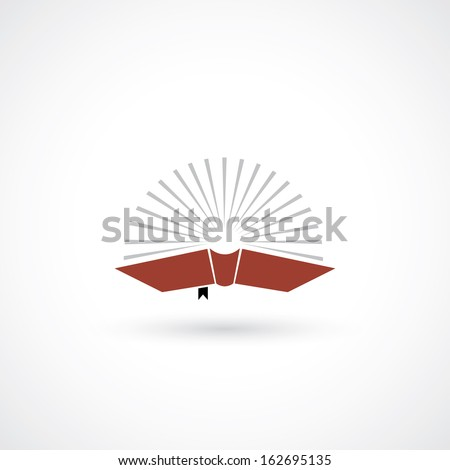 Red book symbol - vector illustration - stock vector