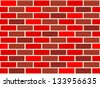Red Brick Wall Pattern w/ changing colors (seamless) - stock vector