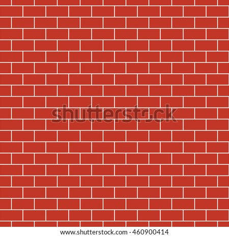 Red Brick Wall Seamless Texture Repeating Pattern Of Brickwork Continuous Bricks Background Simple