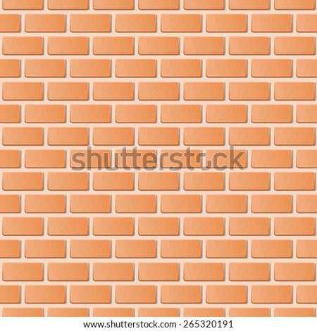 Red brick wall vector illustration background. Texture pattern - stock vector