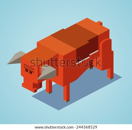red bull. 3d flat isometric vector - stock vector