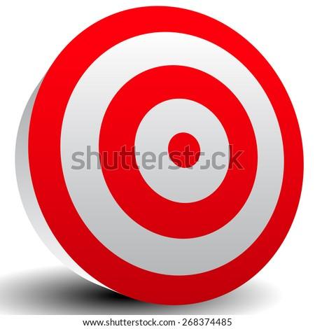Red Bullseye Target - stock vector