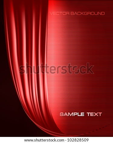 Red business elegant abstract background. Vector illustration - stock vector